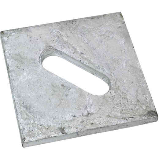 Simpson Strong-Tie 1/2 in. x 3 in. Steel Hot Dipped Galvanized Slotted Bearing Plate