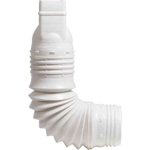Amerimax Flex-A-Spout 3 In. X 4 In. X 3 In. or 4 In. Downspout Adapter