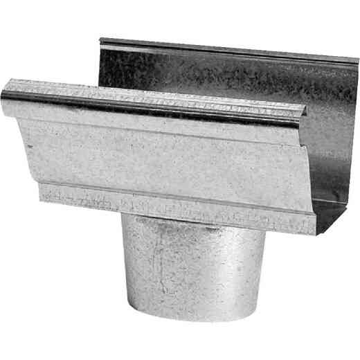 NorWesco 4 In. K Style Steel Round Gutter Drop Outlet
