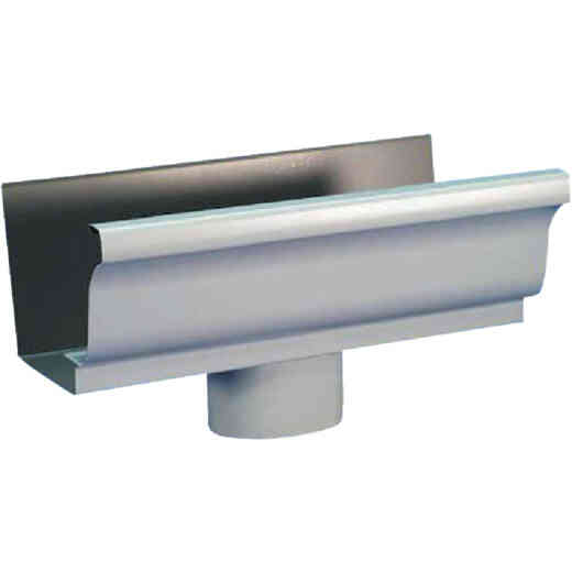 Spectra Metals 5 In. K Style Aluminum White Gutter Drop Outlet