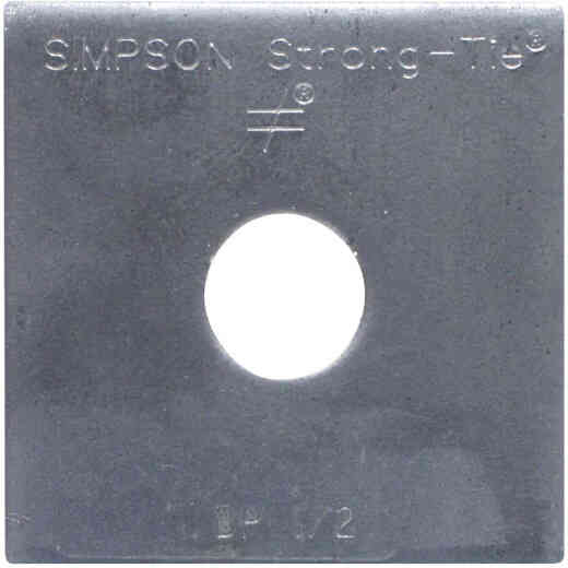 Simpson Strong-Tie 1/2 in. x 2 in. x 3/16 in. Steel Uncoated Bearing Plate