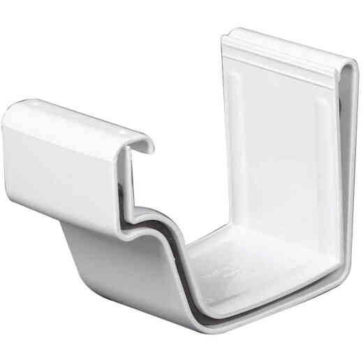 Amerimax 5 In. Traditional K-Style White Vinyl Gutter Slip Joint Connector