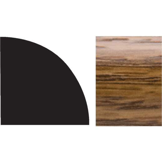 Royal 5/8 In. W. x 5/8 In. H. x 96 In. L. Highland Oak Colored PVC Interior Quarter Round Molding