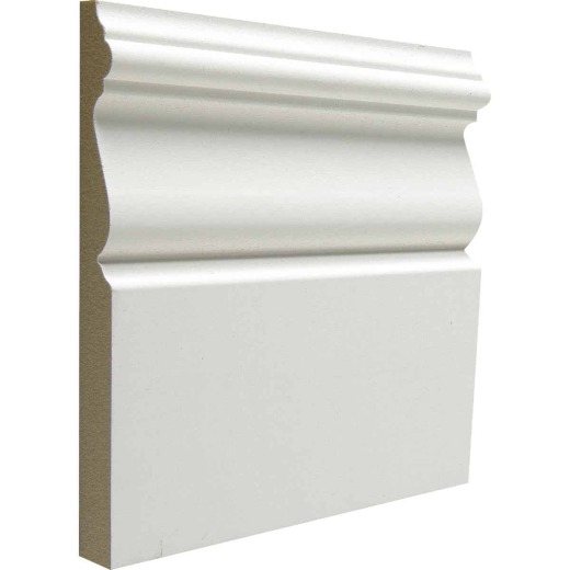 Cedar Creek B312 15/32 In. W. x 5-1/4 In. H. x 5 Ft. L. White MDF Victorian Base Molding