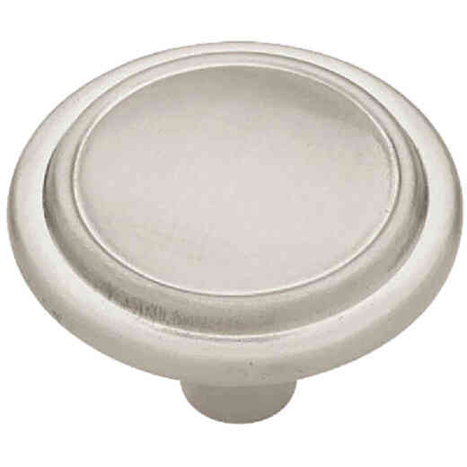 Liberty Satin Nickel 1-1/4 In. Cabinet Knob, (2-Pack)