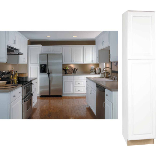 Continental Cabinets Hamilton 18 In. W x 84 In. H x 24 In. D Satin White Pantry Cabinet