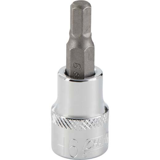 Channellock 3/8 In. Drive 6 mm 6-Point Metric Hex Bit Socket
