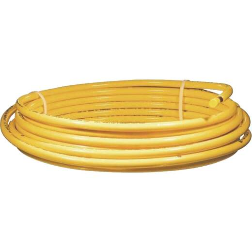 Mueller Streamline 1/2 In. OD x 50 Ft. Yellow Plastic Coated ACR Copper Tubing