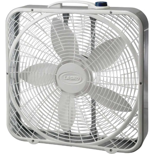 Lasko Wind Ring 20 In. 3-Speed White Box Fan