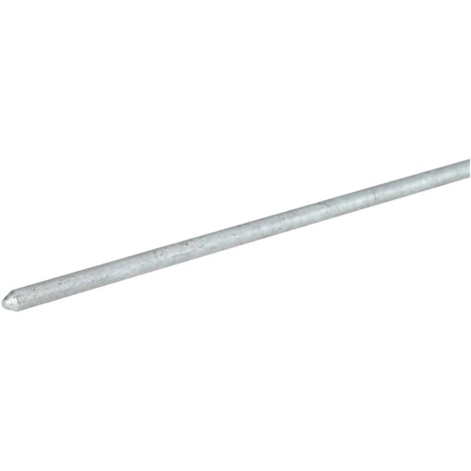 Erico 5/8 In. x 6 Ft. Galvanized Steel Ground Rod
