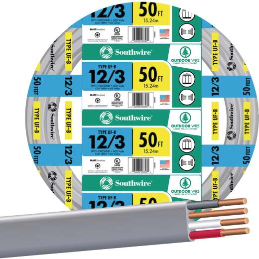Southwire 50 Ft. 12 AWG 3-Conductor UFW/G Wire