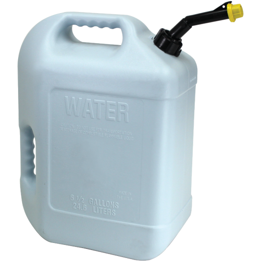 Hopkins 6 Gal. Plastic Water Can, White