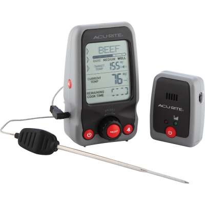Acu-Rite Digital Probe Cooking Kitchen Thermometer with Pager