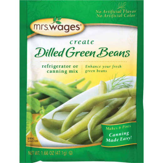 Mrs. Wages 1.7 Oz. Dilled Green Beans Refrigerator Or Canning Pickling Mix