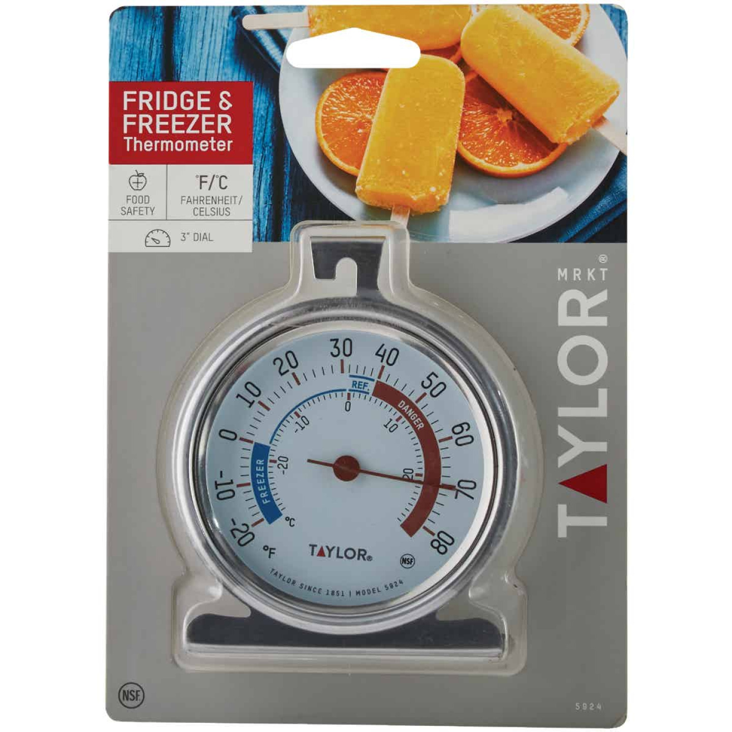 Taylor Classic Freezer Or Refrigerator Kitchen Thermometer Image 2