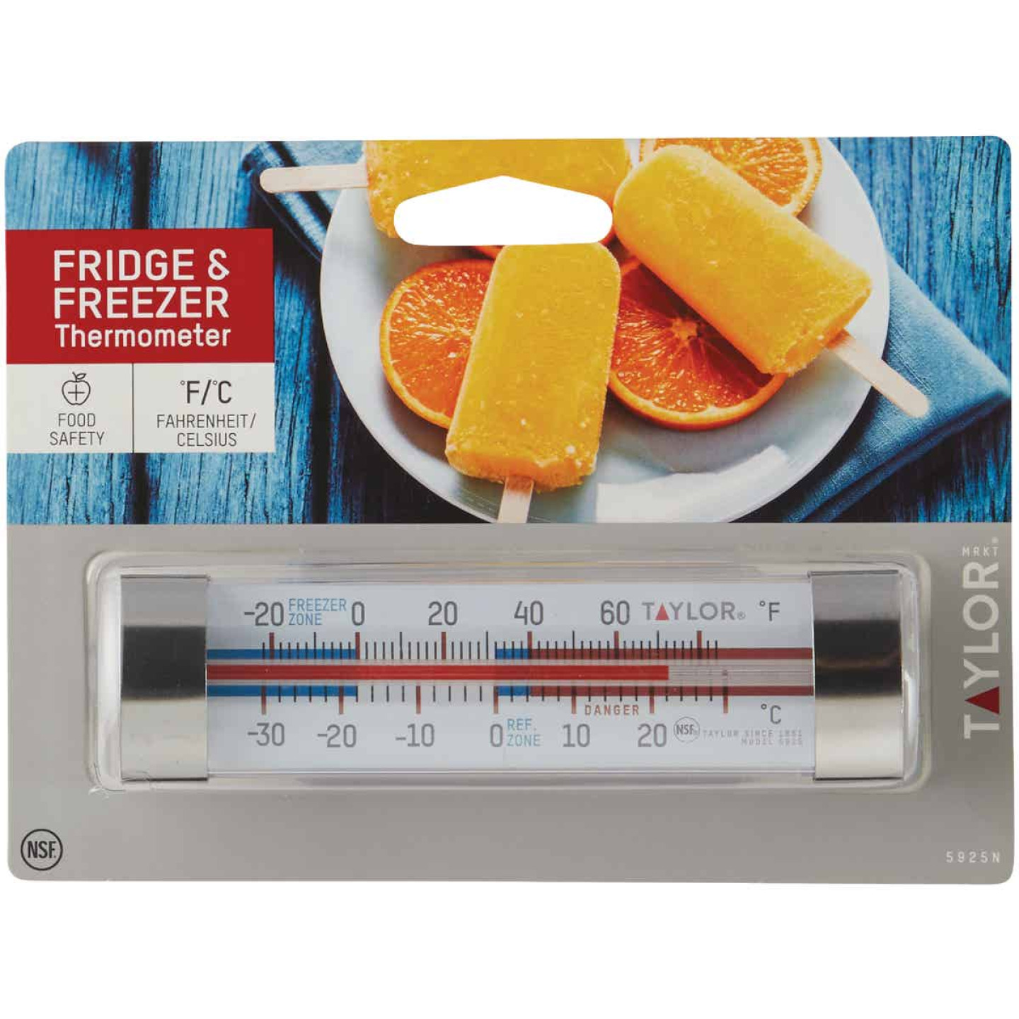 Taylor Freezer Or Refrigerator Kitchen Thermometer Image 2