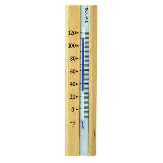 Taylor Fahrenheit -20 to 120 Brown Wood Indoor Window Thermometer