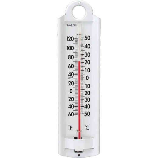 """Taylor 2-1/4"""" W x 8-7/8"""" H Aluminum Tube Indoor & Outdoor Thermometer"""