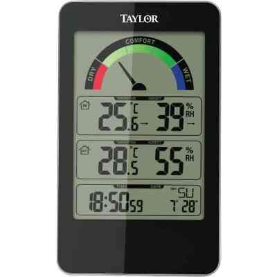 Taylor Fahrenheit & Celsius Digital 14 to 122 F, -10 to 50 C Hygrometer & Thermometer