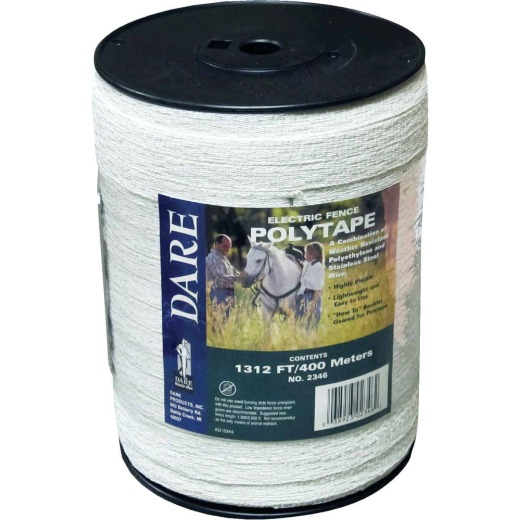 Dare 1/2 In. x 1312 Ft. Polyethylene Electric Fence Poly Tape
