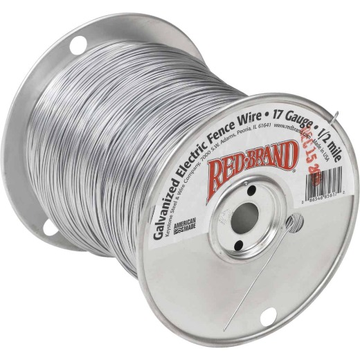 Keystone Red Brand 1/2-Mile x 17 Ga. Steel Electric Fence Wire