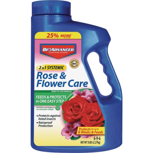 BioAdvanced 2-In-1 5 Lb. Ready To Use Granules Rose & Flower Care Insect Killer