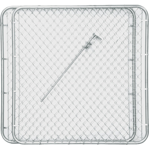 Midwest Air Tech Double Drive 114 In. W. x 58 In. H. Chain Link Gate