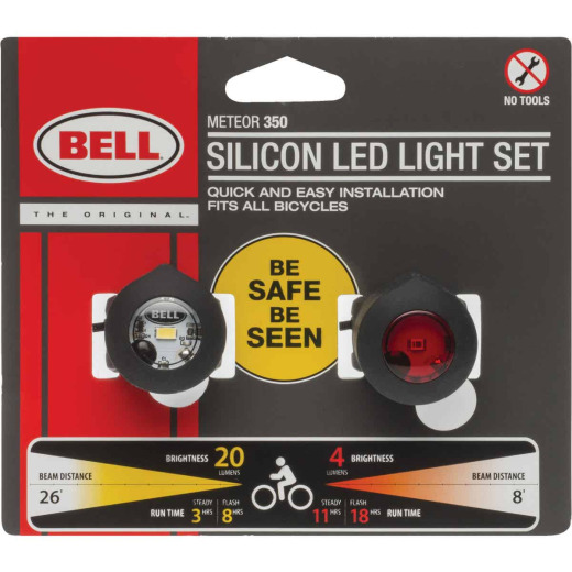 Bell Sports 1 Clear/1 Red LED Bicycle Light Set
