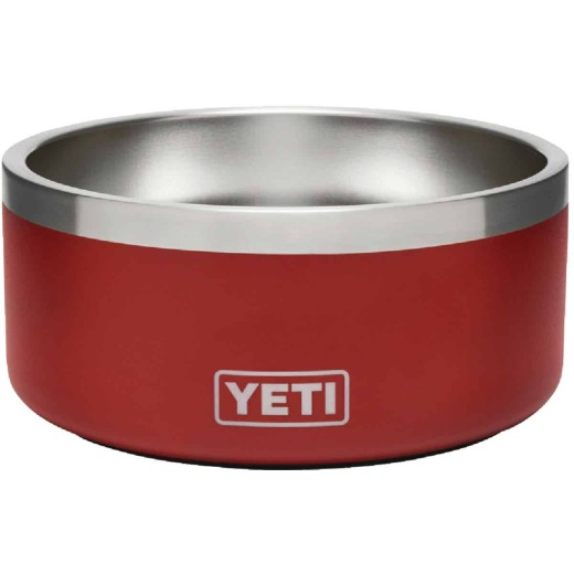 Yeti Boomer 4 Stainless Steel Brick Red Dog Food Bowl