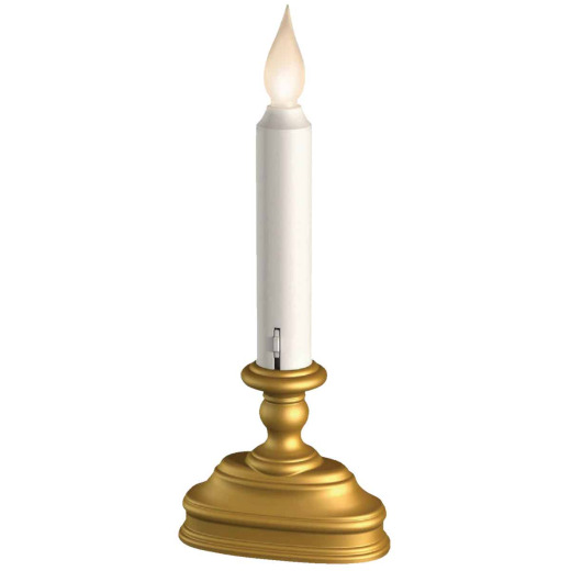 Xodus Standard 4.5 In. W. x 7.5 In. H. x 2 In. D. Antique Brass LED Battery Operated Candle