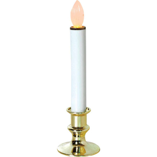J Hofert 9 In. H. x 2.5 In. Dia. Gold LED Battery Operated Candle with Timer