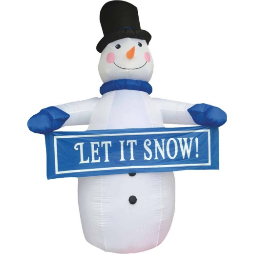 Southern Joy 12 Ft. Let it Snow Snowman Airblown Inflatable
