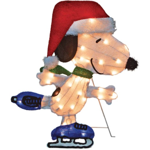 Product Works Peanuts 24 In. Incandescent Skating Snoopy Holiday Figure