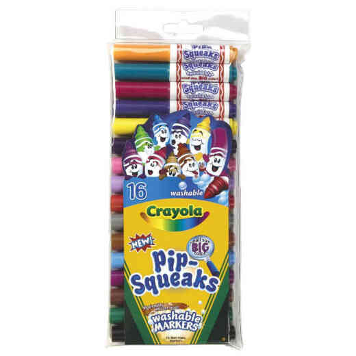 Crayola Pip-Squeaks Assorted Color Conical Nib Washable Marker (16-Pack)